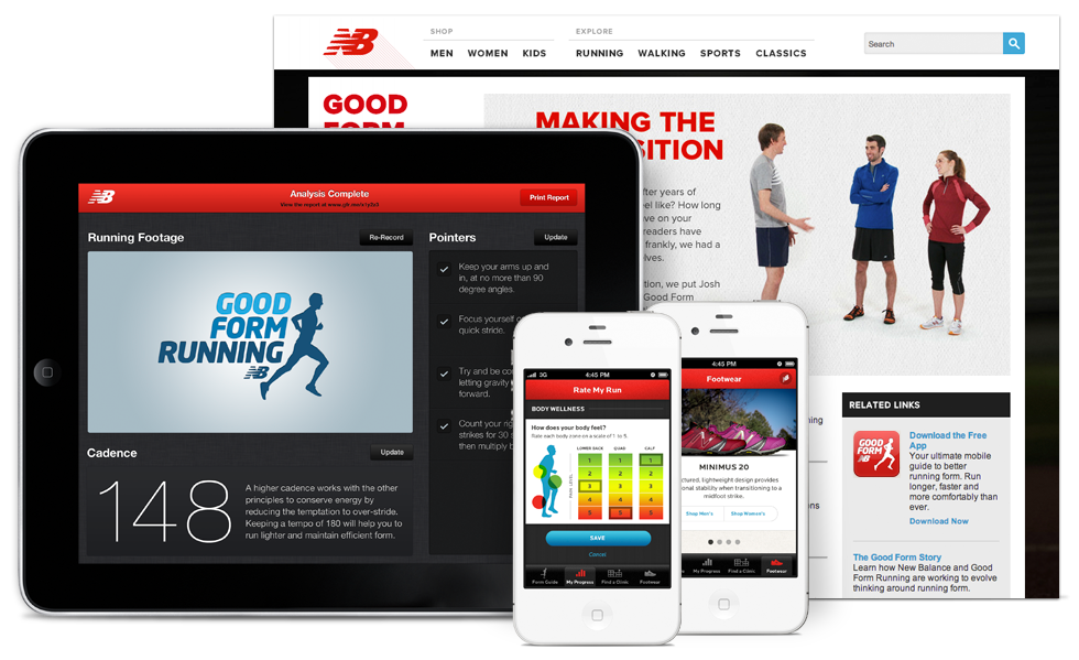 The Good Form Running Site, iPad App, and iPhone App by Mike Scopino