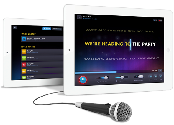 Soulo Karaoke iPad Application by Mike Scopino